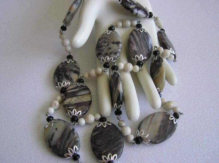 Glorious Nature   Lg Picasso Jasper Bead Necklace