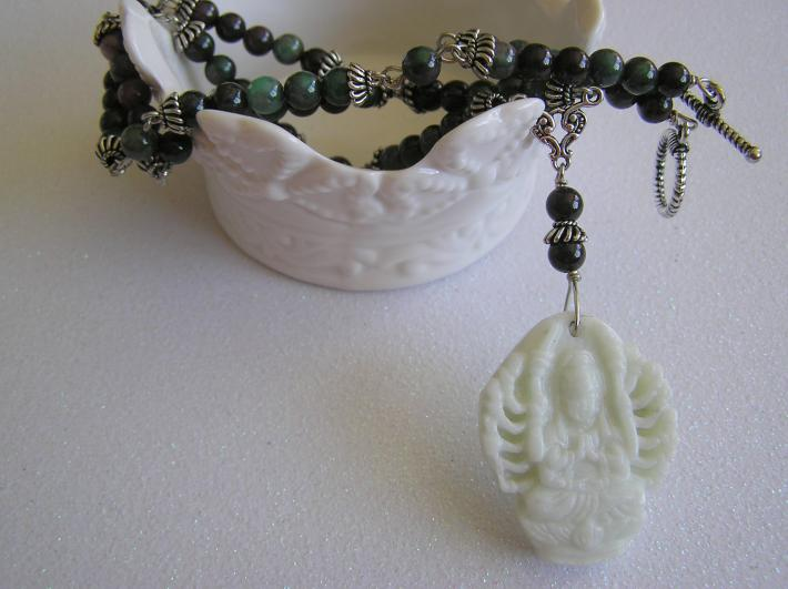 Lady of 1000 Arms              Hand carved Jade Necklace