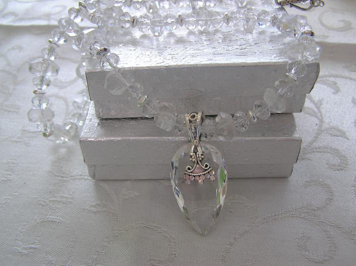 Frosty Eve         Sparkling Rock Crystal Necklace