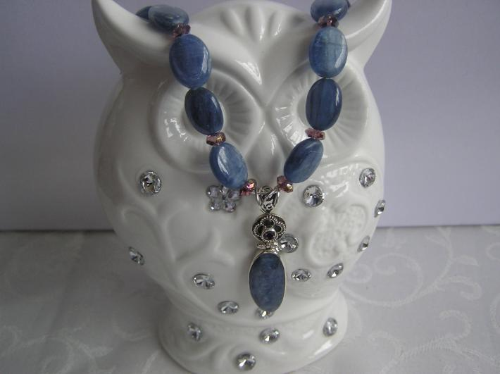 Girl in Blue    Petite Blue Kyanite Necklace