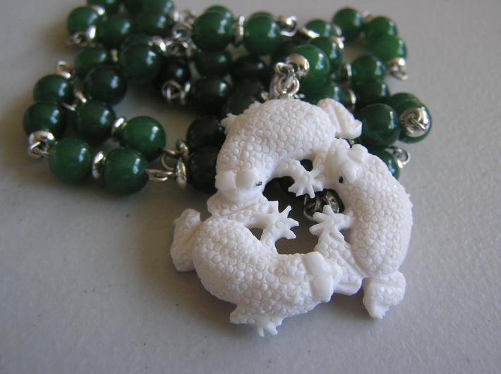 Three Frogs         Hand Carved Frog Necklace