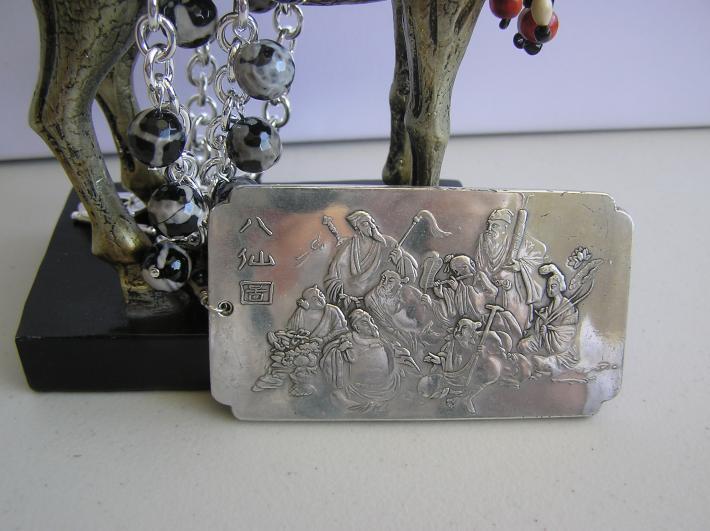Eight Immortals       Silver Bullion Necklace