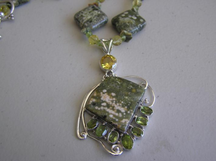 Tumbling Waters            Rhyolite Necklace