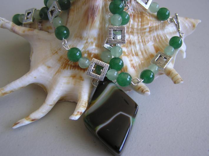 In A Rock Shop     Stripped Agate Necklace