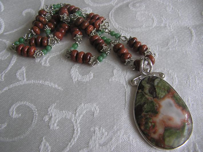 The Dragon from India   Dragon Jasper Necklace