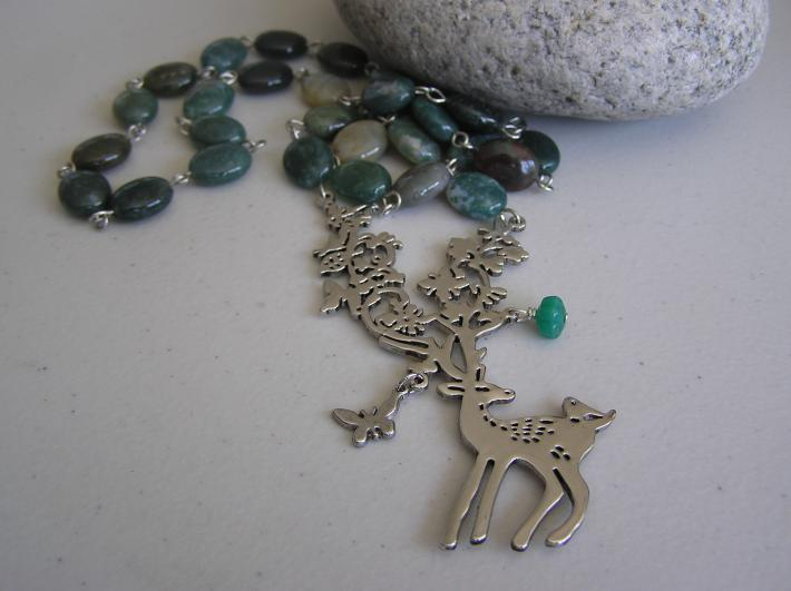 Harmony in Nature        Deer Necklace