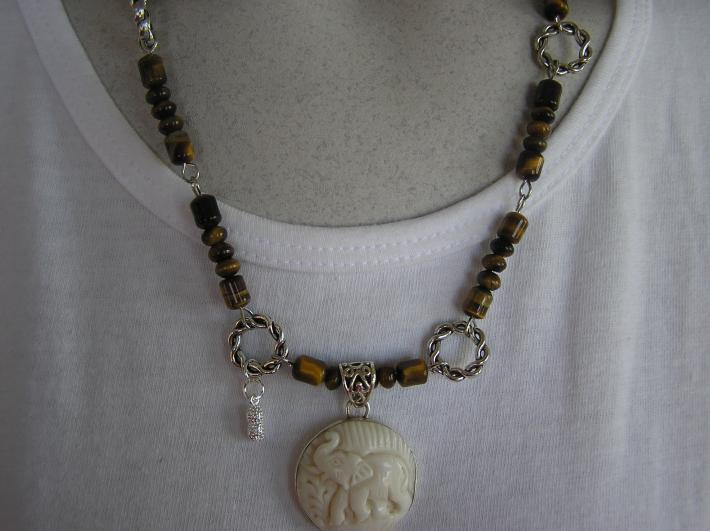 Did You Say Peanuts                Elephant Necklace