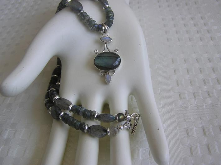 Little Gray Skies        Labradorite Petite Necklace