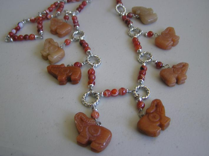 Looking for a Waterhole       Elephant Necklace