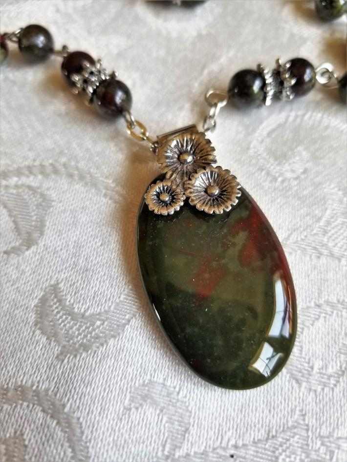The Power of Bloodstone                         Bloodstone Necklace