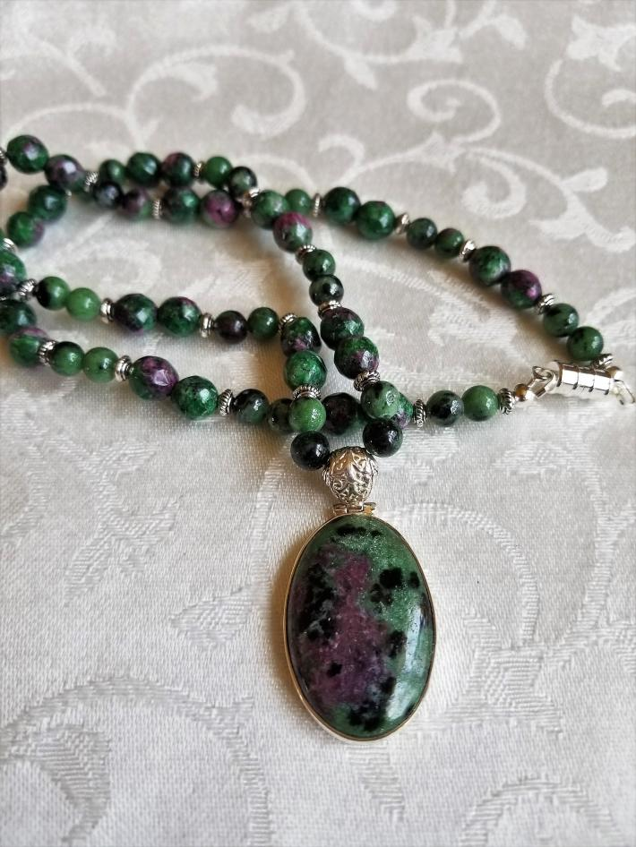 Good Intrusion                         Ruby in Zoisite Necklace