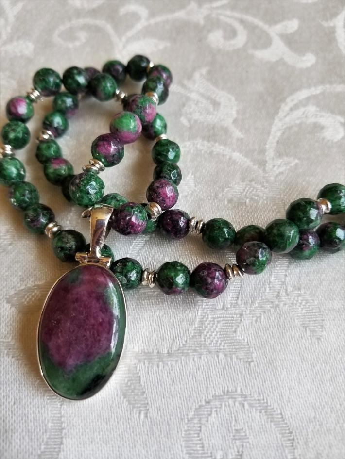 Regal in Ruby                          Ruby in Zoisite Necklace