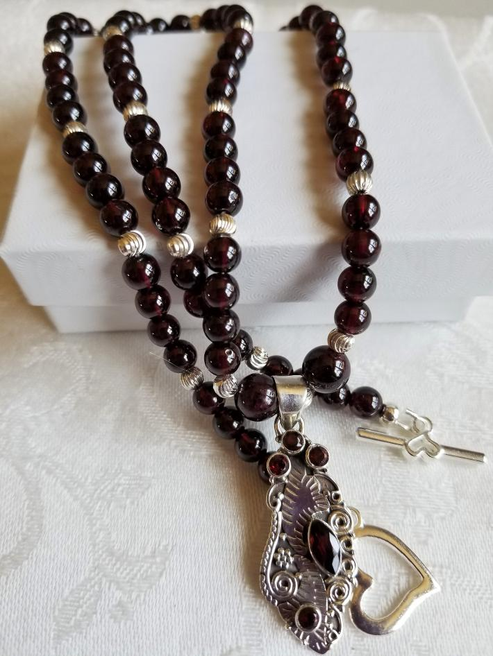 I Love Garnets                              Petite Garnet Necklace
