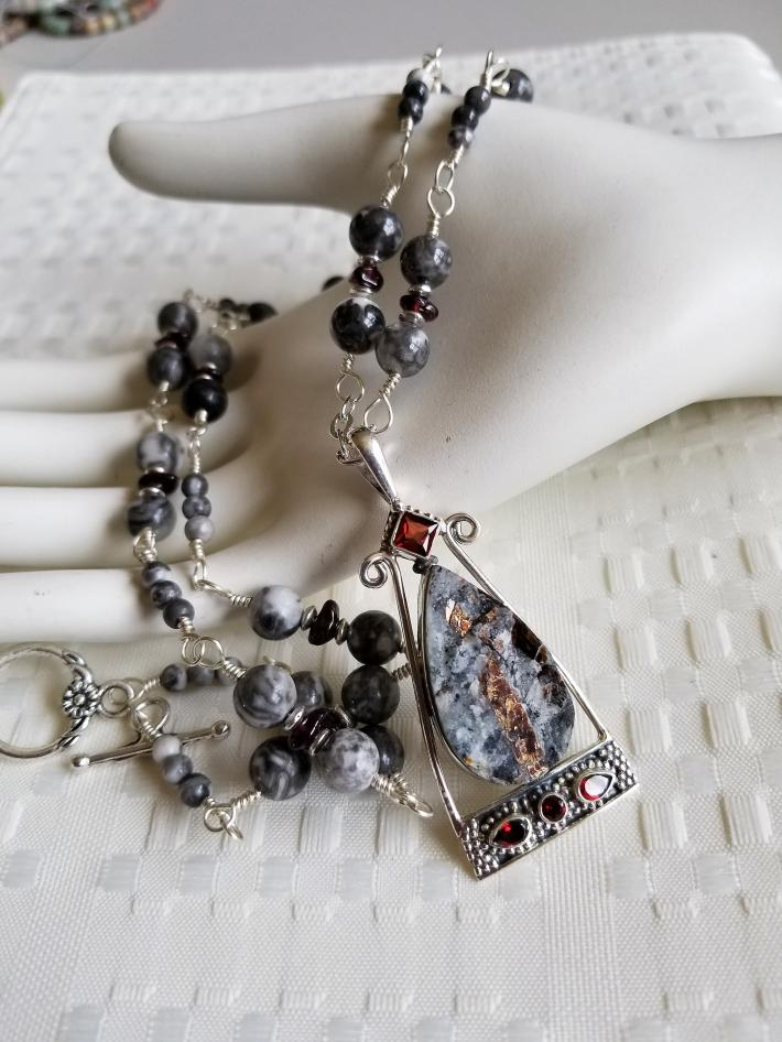 Only in Russia                      Astrophyllite Necklace with Matching Earrings