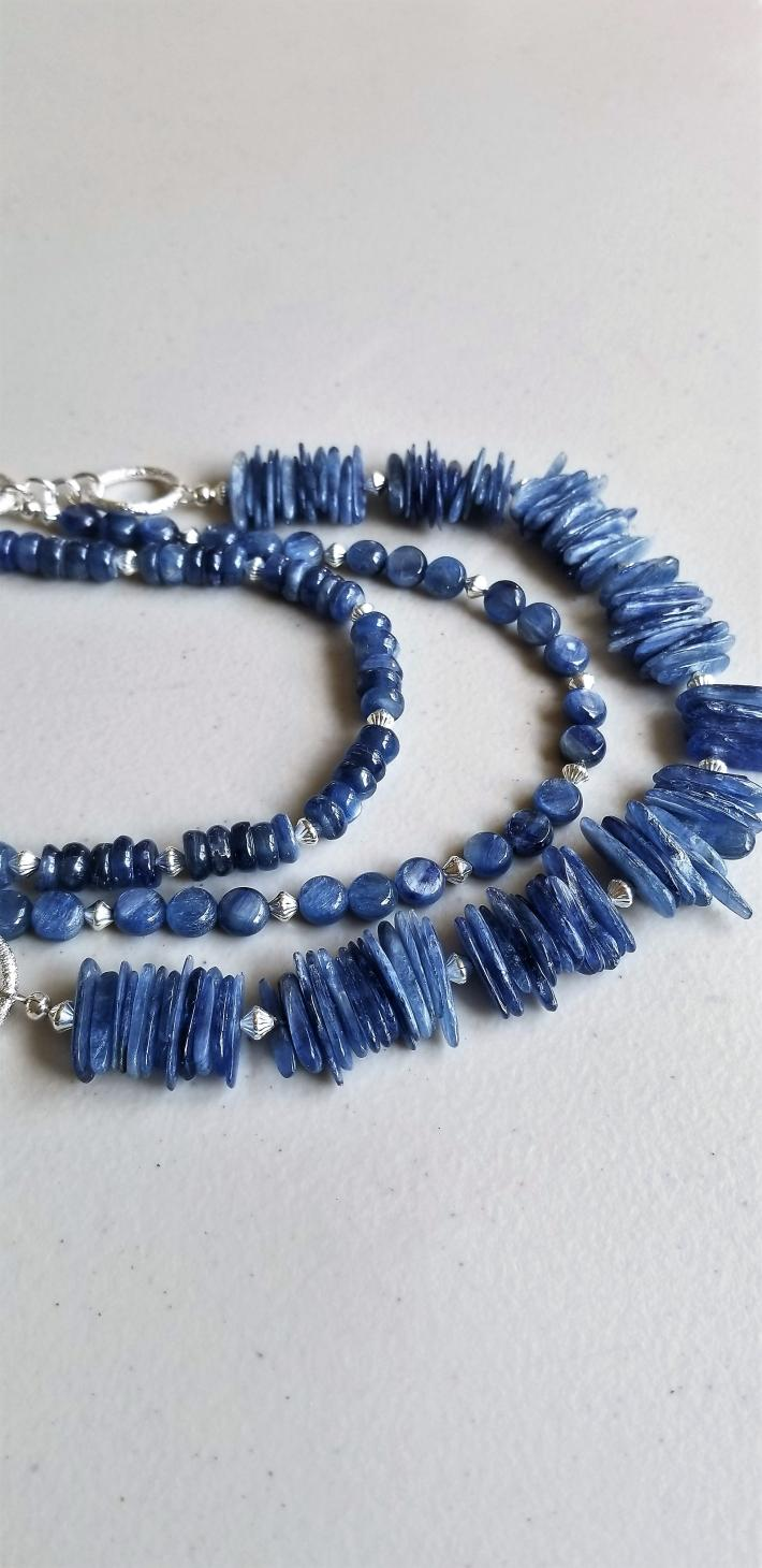 Blue Skies                 Kyanite 3 strand necklace