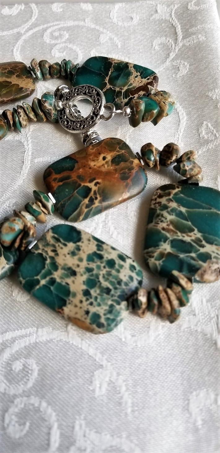 The Sky was Teal                          Sea Sediment Necklace