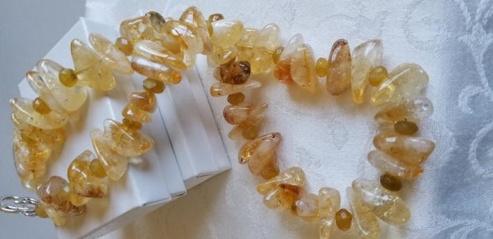 A Touch of Yellow                              Citrine Necklace