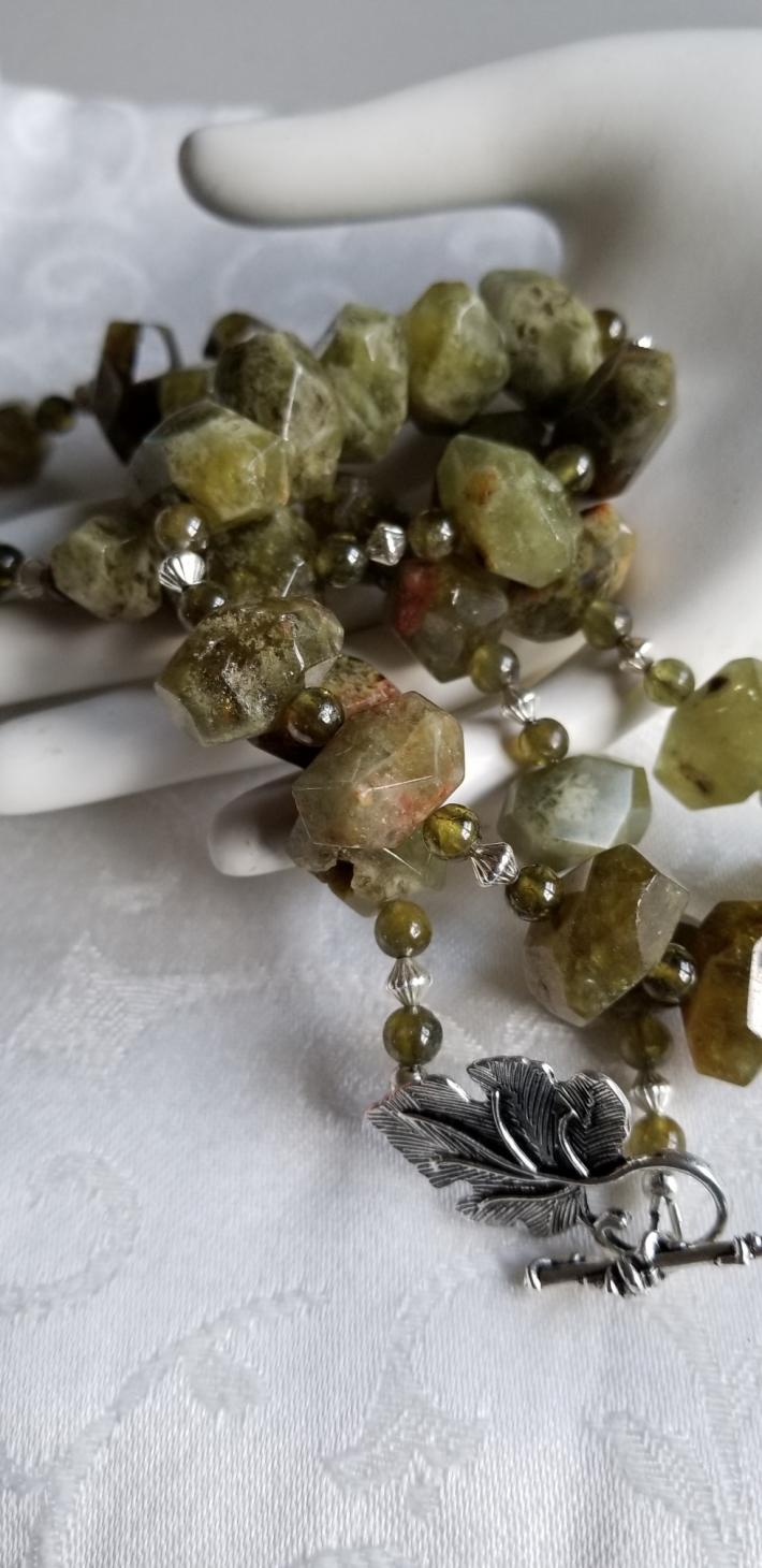 Green Valley                            Grossular Garnet Necklace