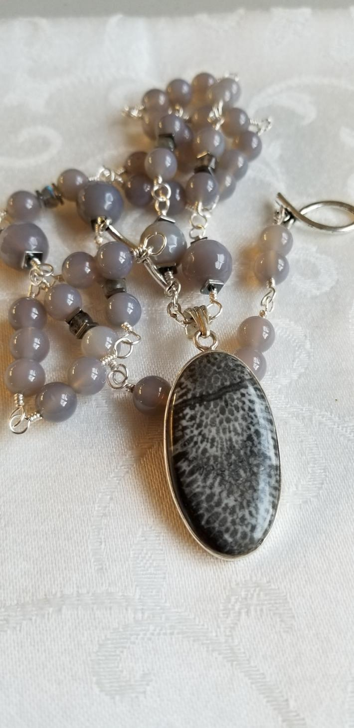 Power of a Stingray                                  Stingray Coral Necklace