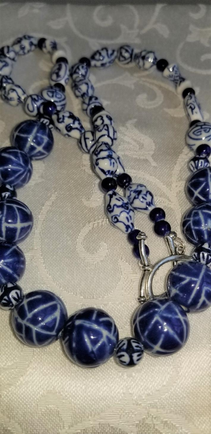 Windsong                                     Blue and White Porcelain beads
