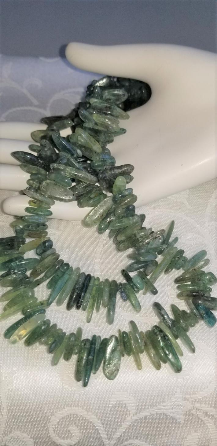 Summer Green                                      Green Kyanite Necklace