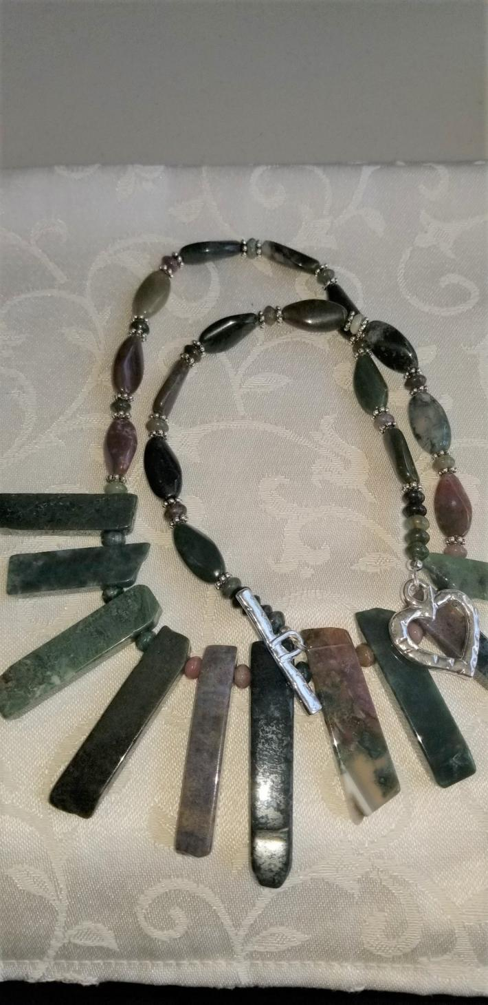 The Indian with a Stick                            Indian Agate Necklace