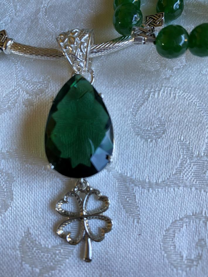 The Green of Ireland                                              St Patricks Day Necklace