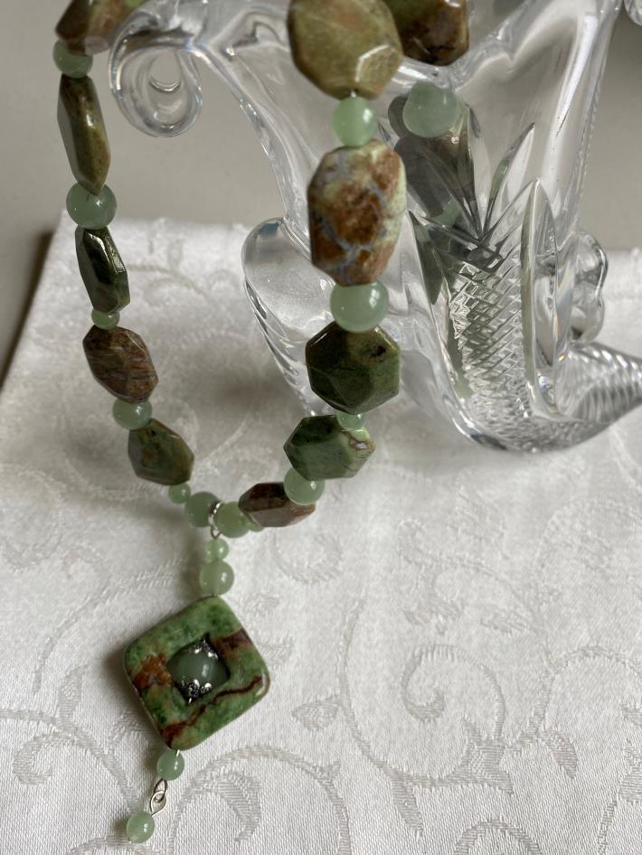 Minty Fresh                   Chrysoprase Necklace