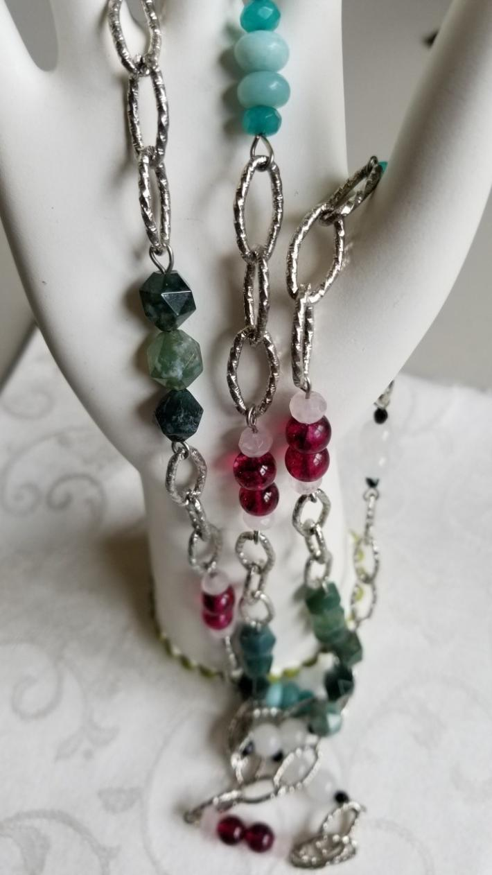 Rainbow Dreams for You                                   Chain Necklace with Gems