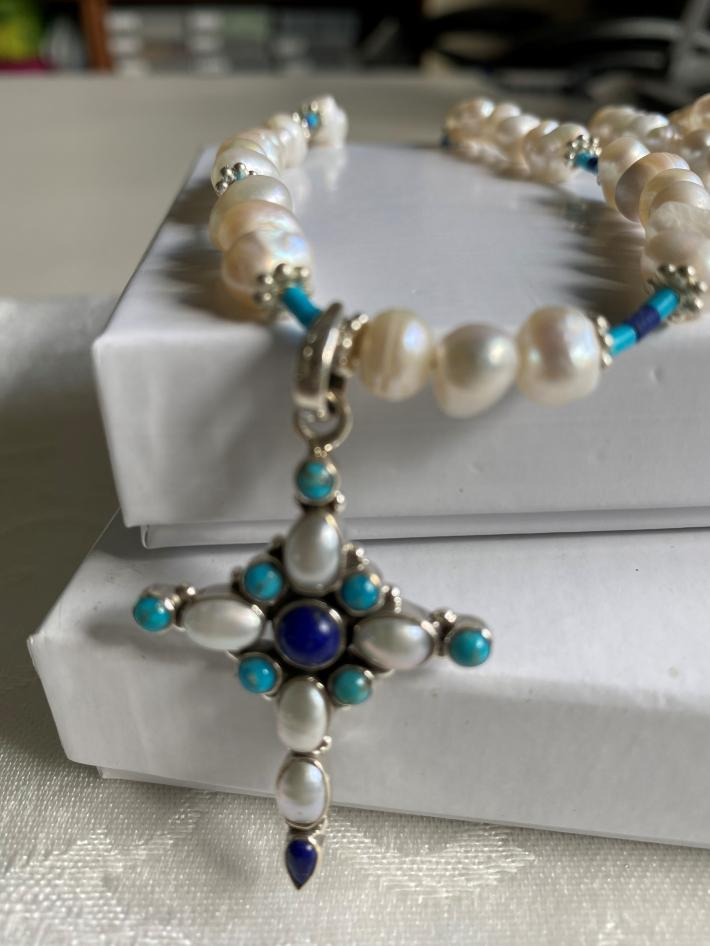 Pearls and a Cross                                       Cross Necklace