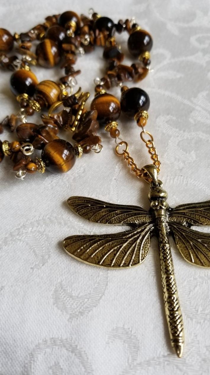 Golden Flight                                    Dragonfly Necklace