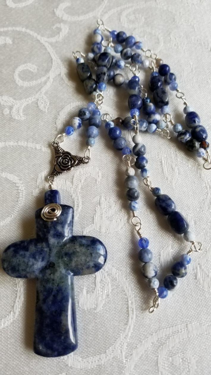 Sky Blue Cross                                    Cross Necklace