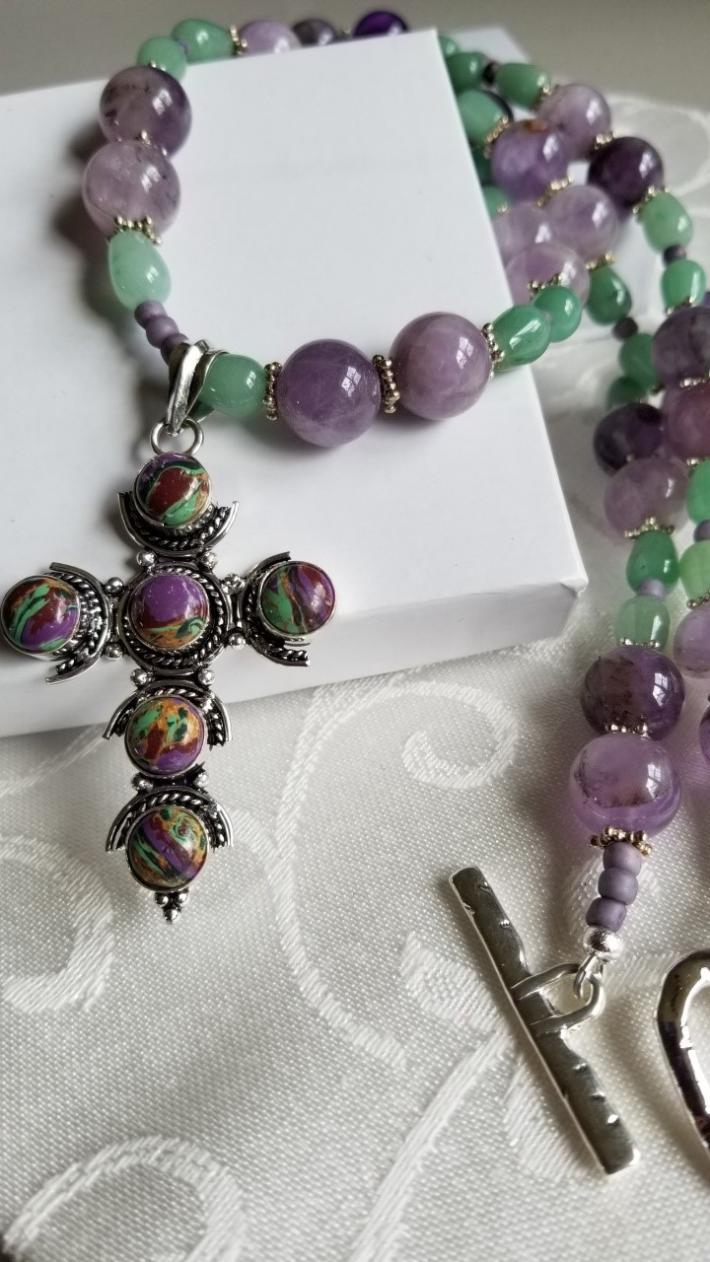 Lavender Fields                                                  Cross Necklace