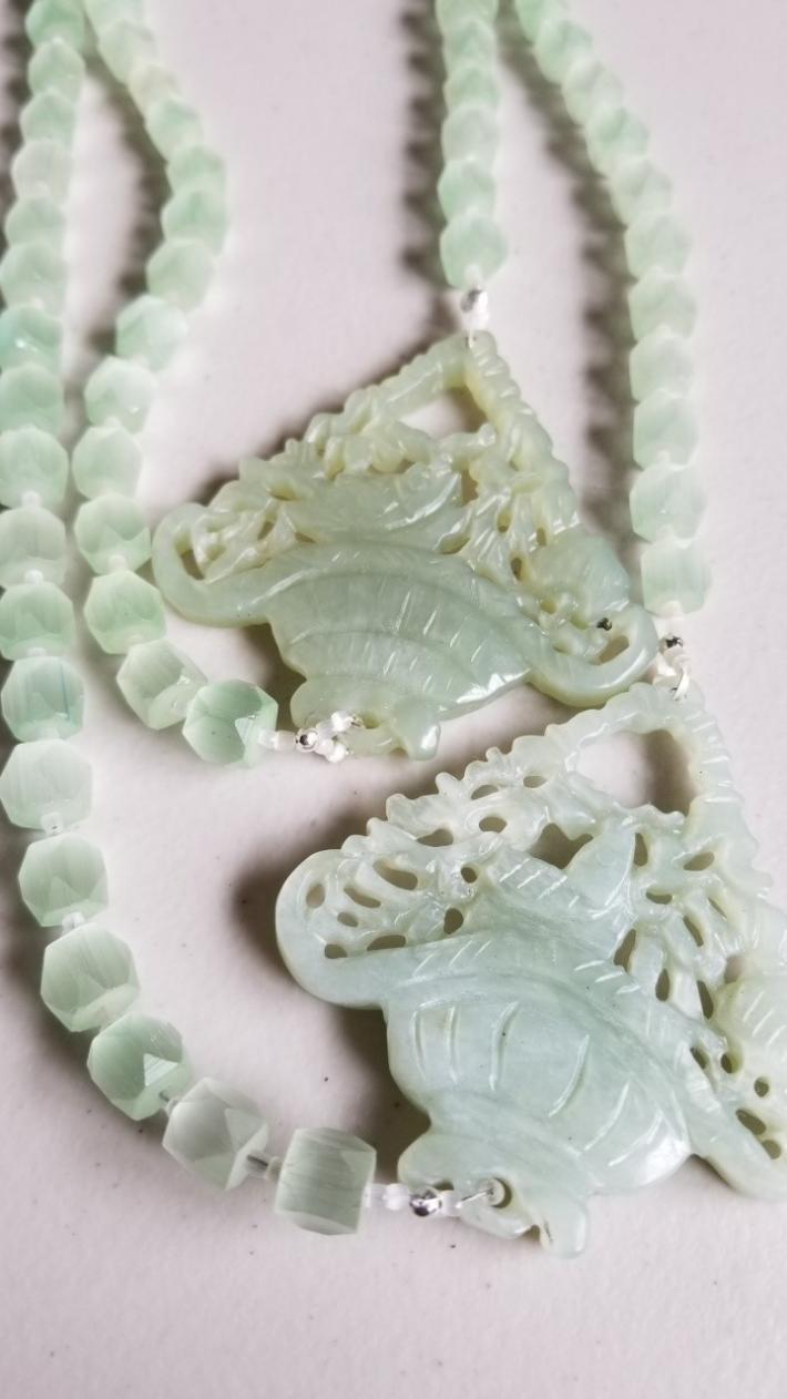 Lucky Fish                                     New Jade Fish Pendant