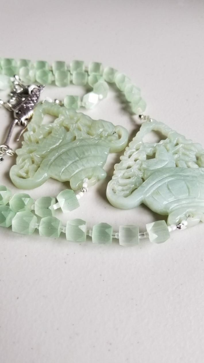 Lucky Fish                                     New Jade Fish Pendant
