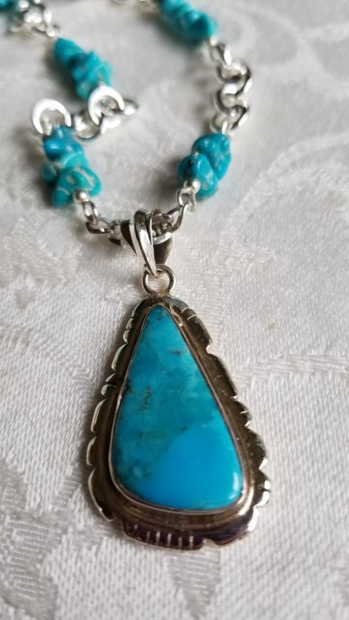 Sleeping Beauty                                          Sleeping Beauty  Turquoise Necklace
