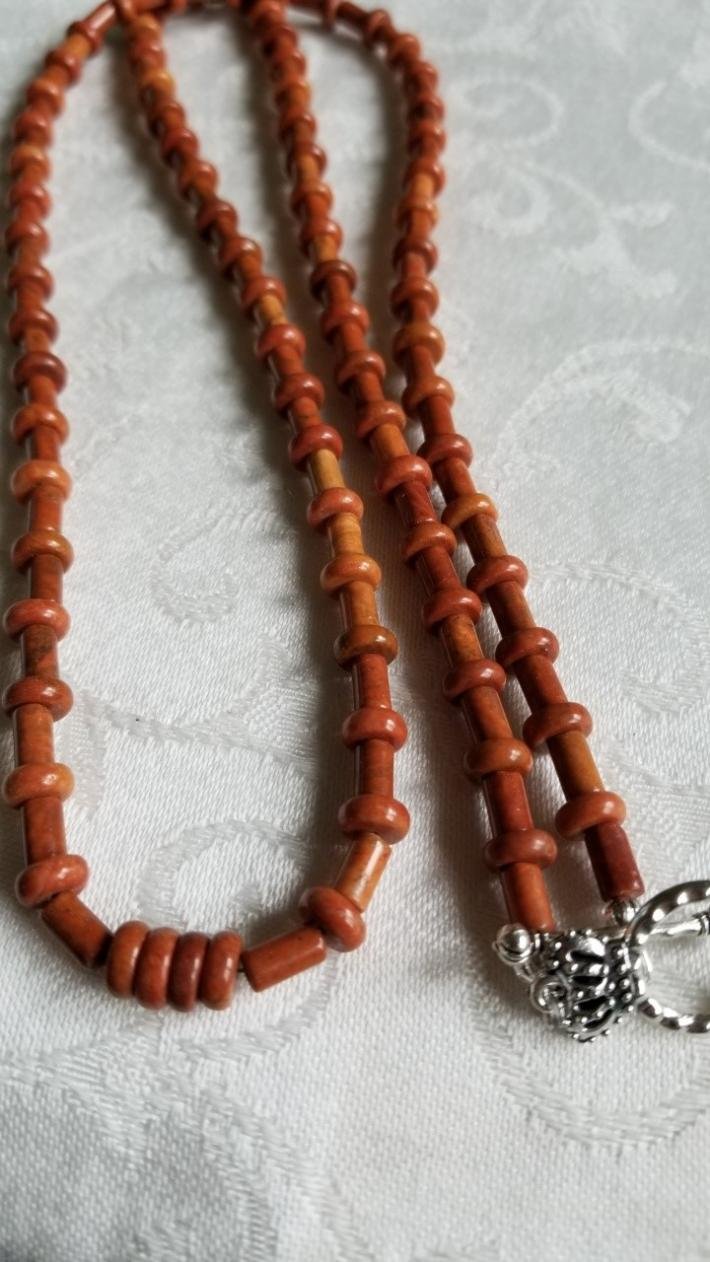 Four in the Front                                            Red Jasper Necklace