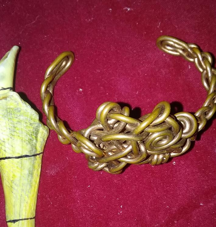 Copper Knot Cuff