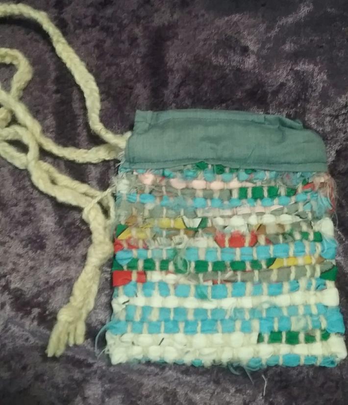 Hand Woven Rag Rug Bag