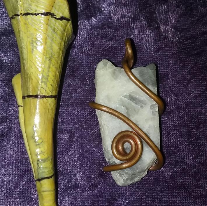 Moonstone Slab Pendant