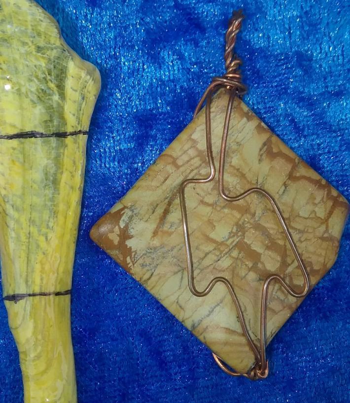 Wood Jasper Pendant