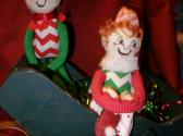 sitting and dancing elves