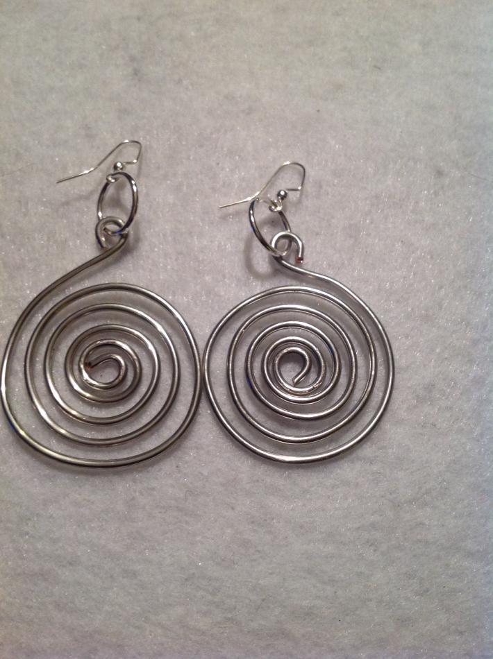Silver Wired Earrings