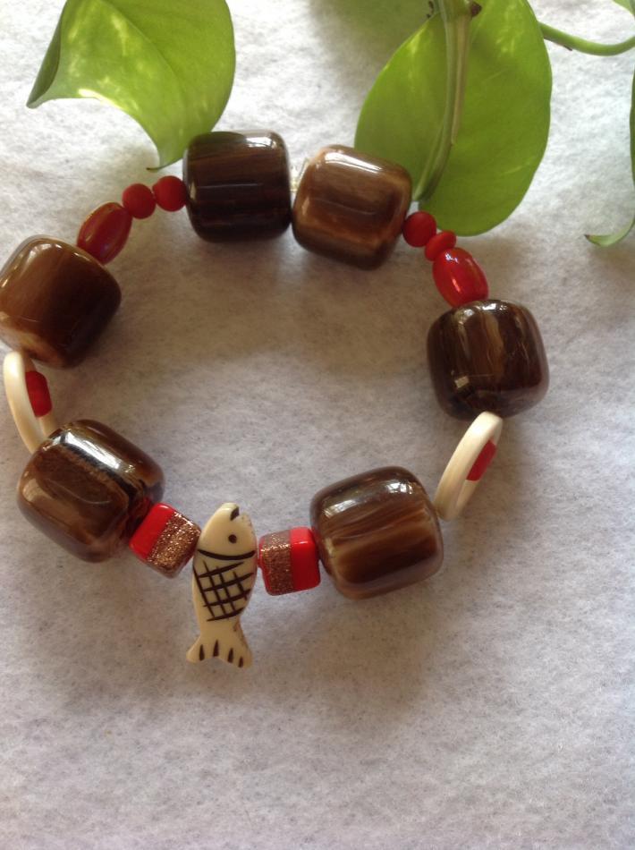Red Fish Bracelet
