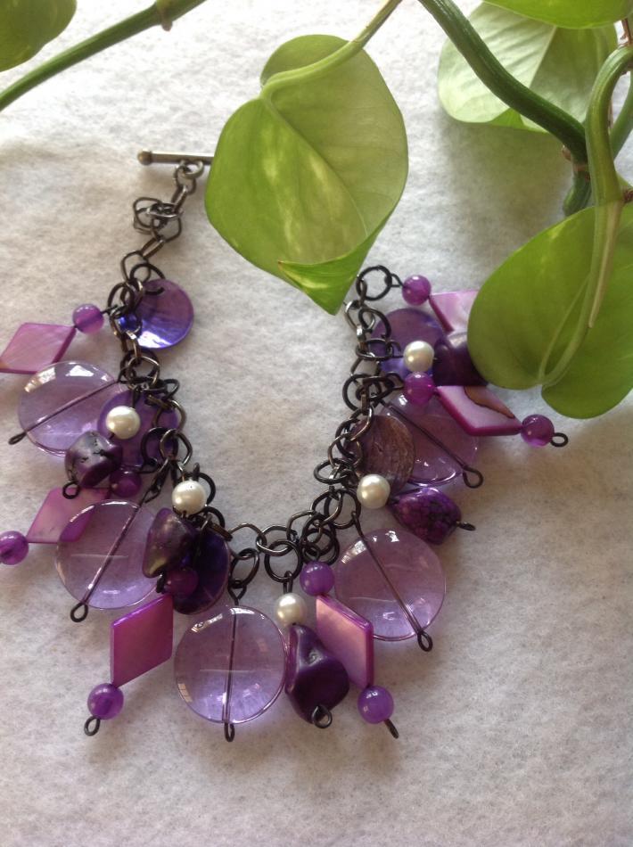Purple Charm Bracelet
