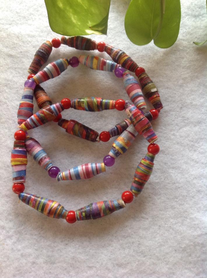 Paper Bead Bracelets 3