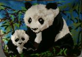 Giant Panda Bear and Cub Afghan