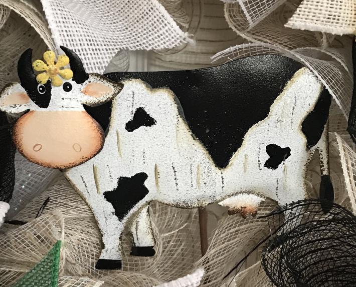 Country Cow Wreath