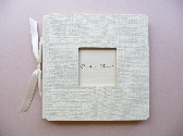 Wedding Guestbook IvoryCream Custom Handcrafted Window Handwritten Eco Friendly