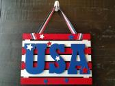 USA Striped Sign